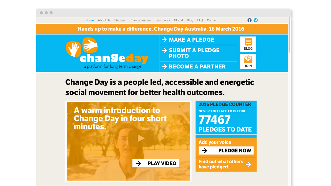 Change Day Australia - Website - Homepage - Desktop