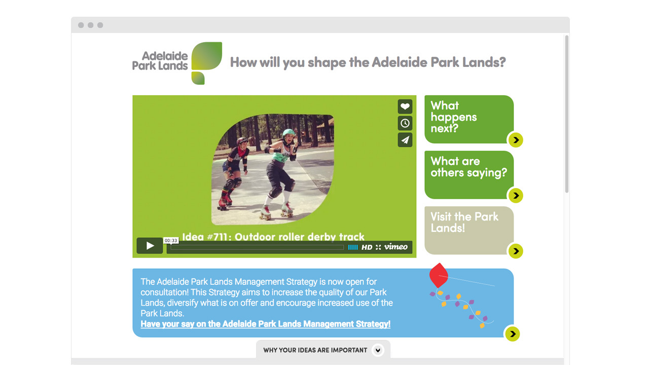 Adelaide Park Lands - homepage