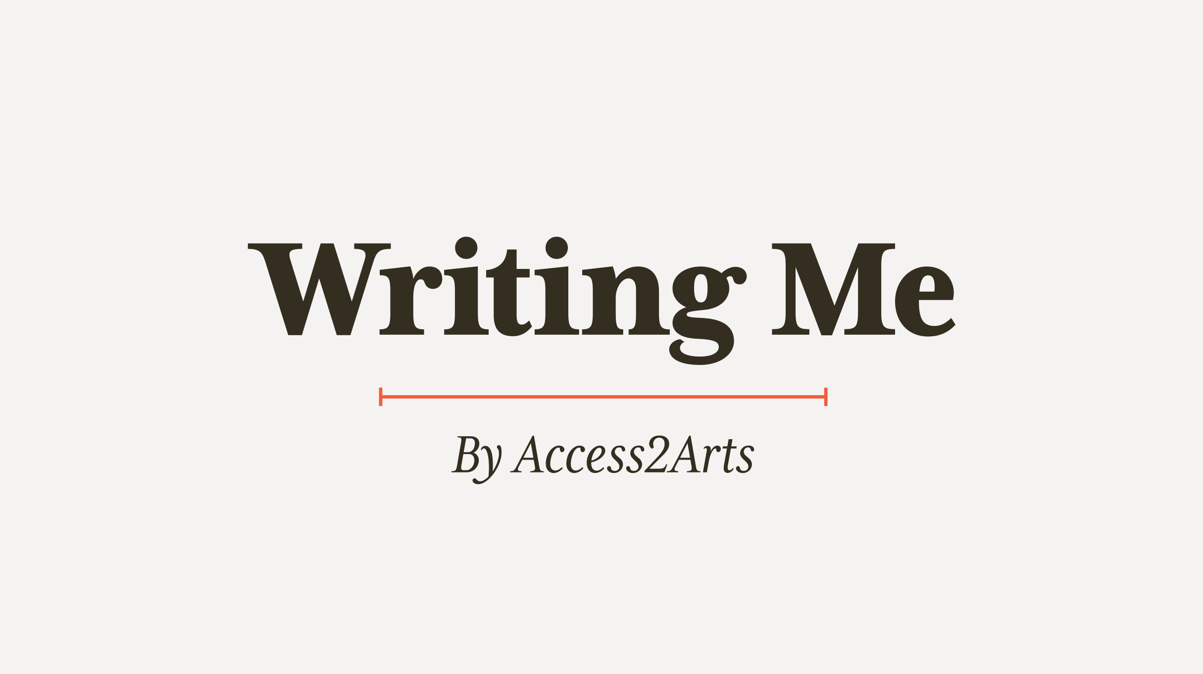 Logo: Writing Me, by Access2Arts