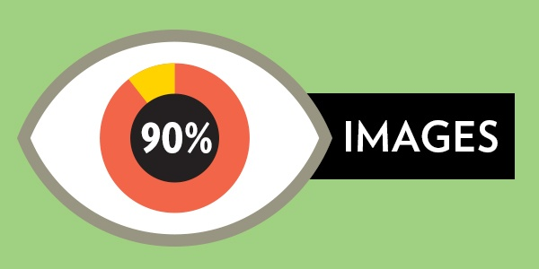 Eye icon, with the iris making a graph: 90% images