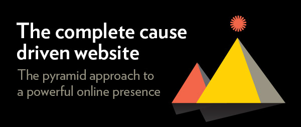 Complete cause driven website call to action button