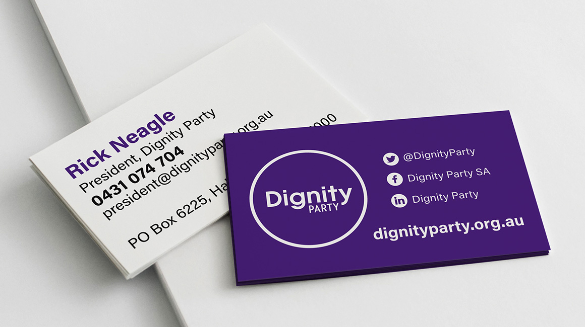 Dignity Party business cards