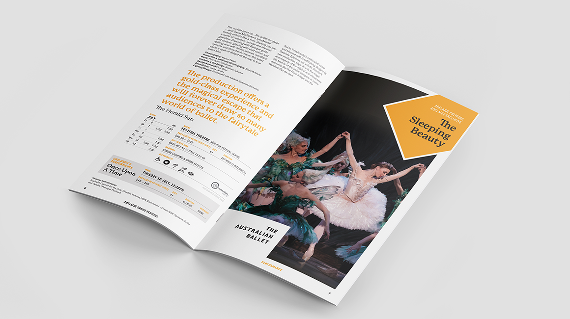 Adelaide Dance Festival - Printed program - spread - The Sleeping Beauty
