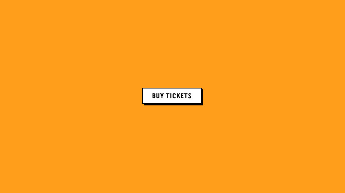 Adelaide Dance Festival - Website - Buy Tickets button - white button with black outline on a bright orange background