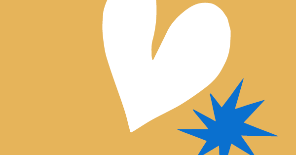 A picture of a wine heart and a small blue star sits on the right side of a gold background