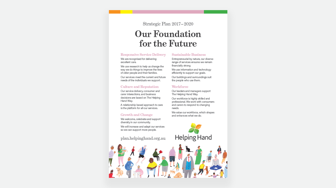 Helping Hand - poster - Our foundation for the future