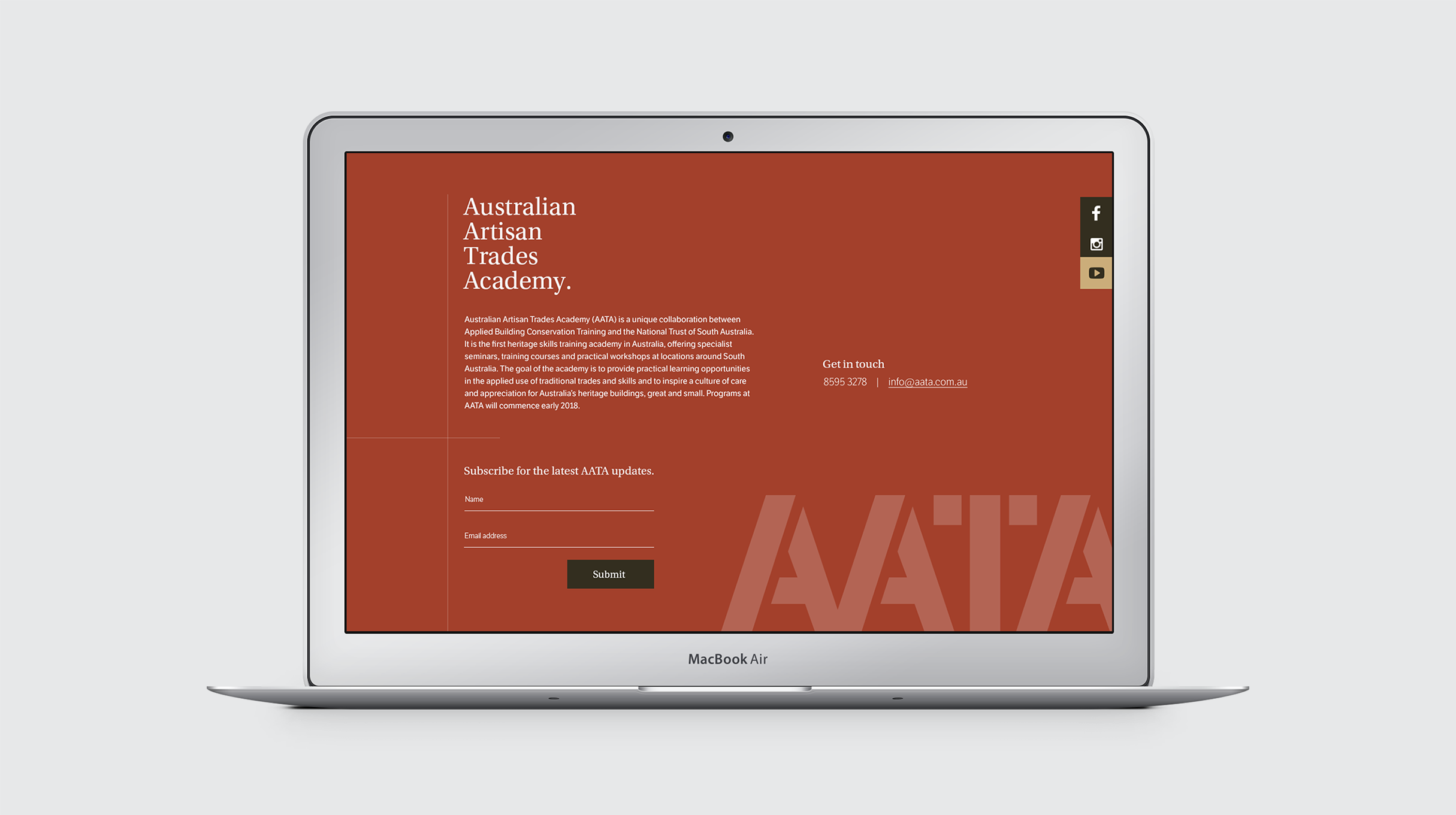 AATA - website homepage