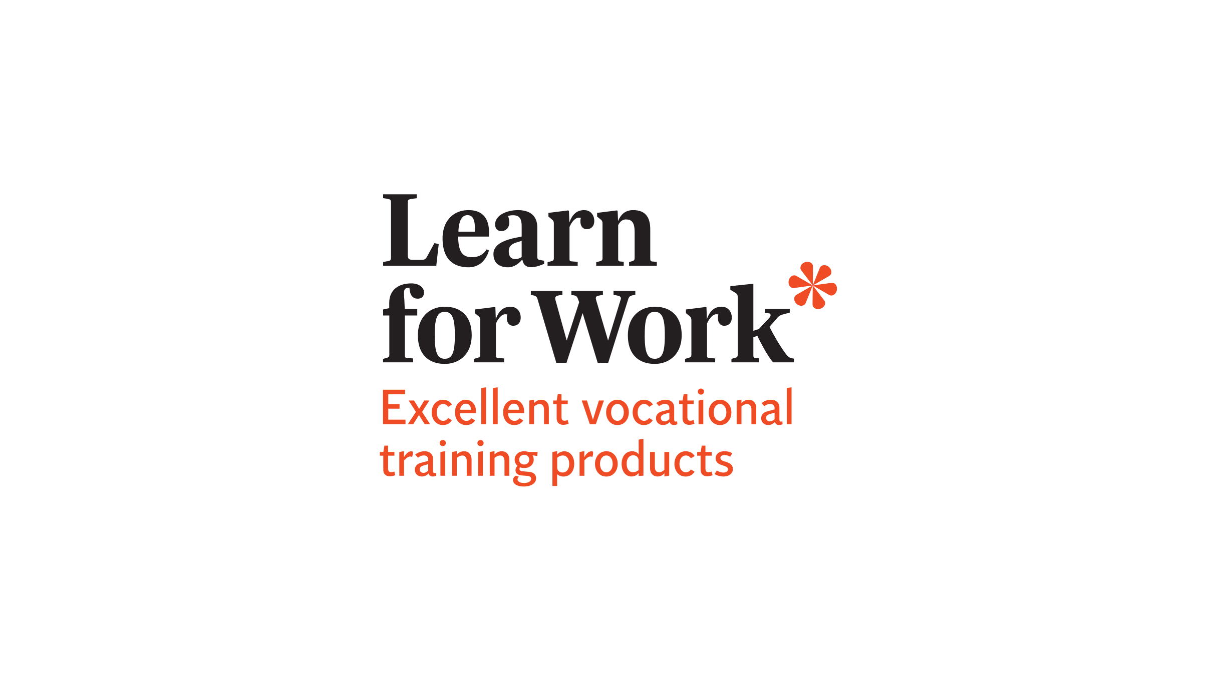 Logo - Learn For Work, Excellent vocational training products