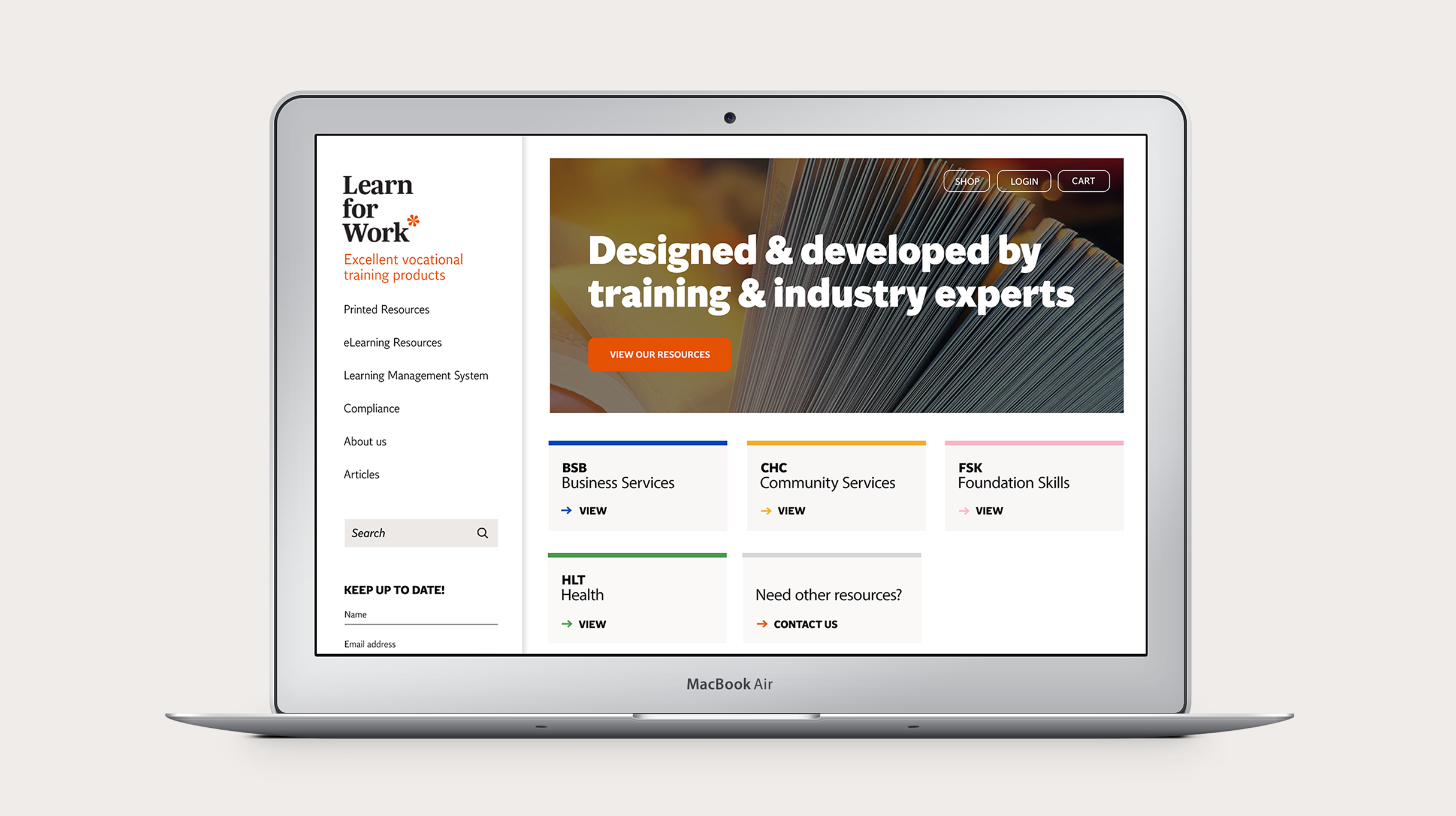 Learn For Work - homepage