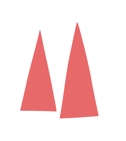 two red triangles representing graphic design services